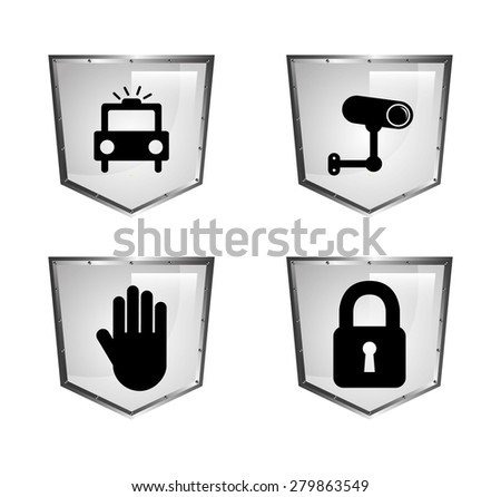 security system design, vector illustration eps10 graphic  - stock vector