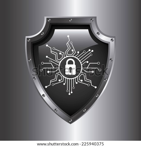 security system graphic design , vector illustration - stock vector
