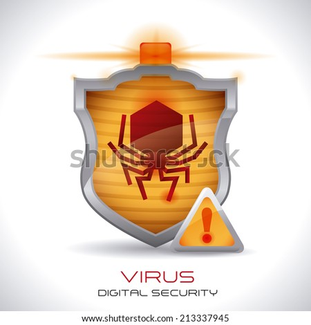 security system over gray background vector illustration - stock vector