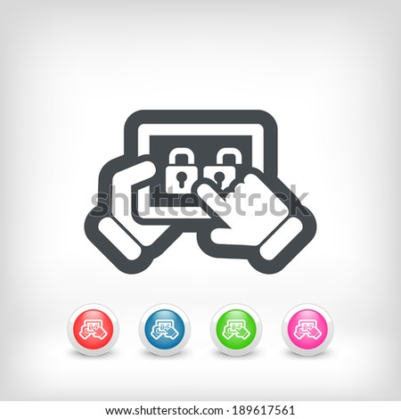 Security touchscreen system - stock vector