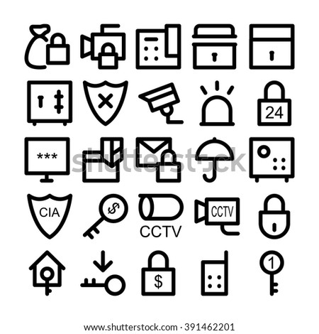 Security Vector Icons 3 - stock vector