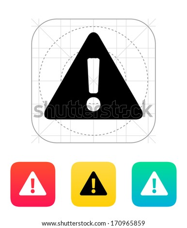 Security warning icon. Vector illustration. - stock vector
