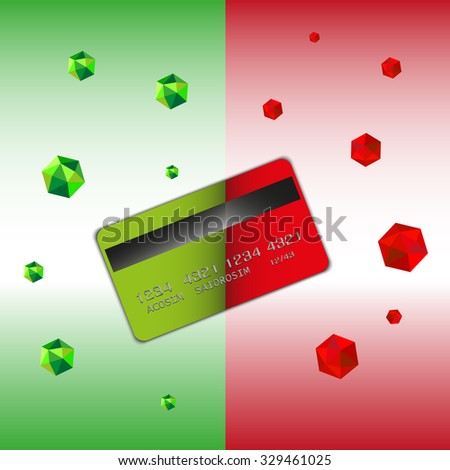 Security when using your card graphic - stock vector