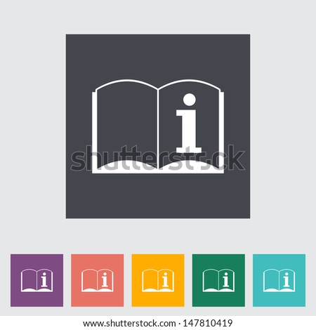 See owner's manual. Single flat icon. Vector illustration. - stock vector