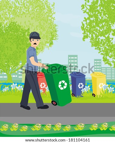 segregation of garbage  - stock vector