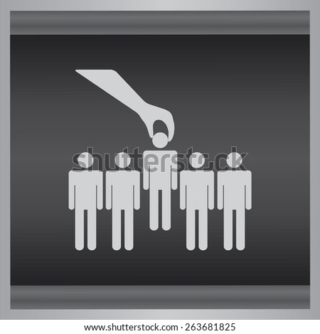 Select of man icon, people vector illustration. Flat design style. - stock vector