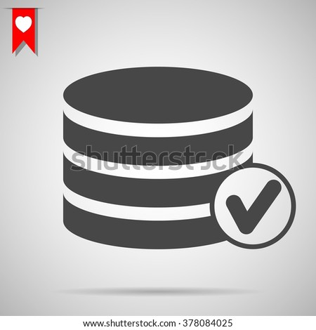 selected database icon - stock vector