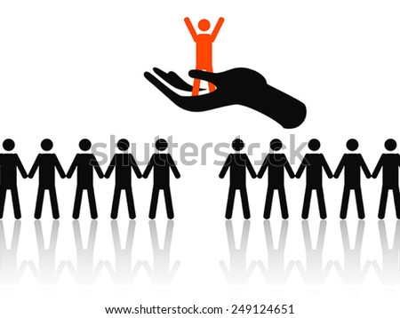 selecting the best job candidate - stock vector