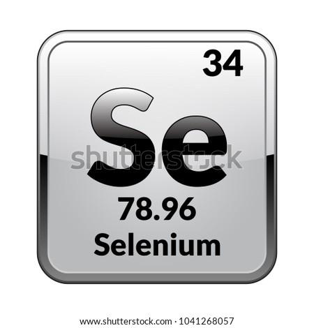 Selenium Symbol Chemical Element Periodic Table On Stock Vector