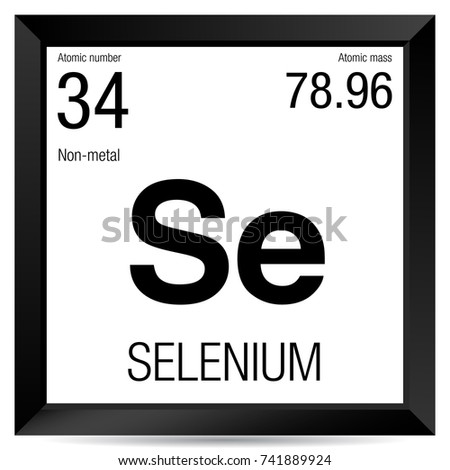 Selenium Symbol Element Number 34 Periodic Stock Vector 741889924