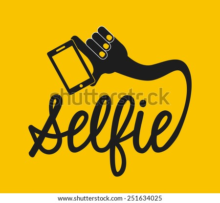 selfie concept design, vector illustration eps10 graphic  - stock vector