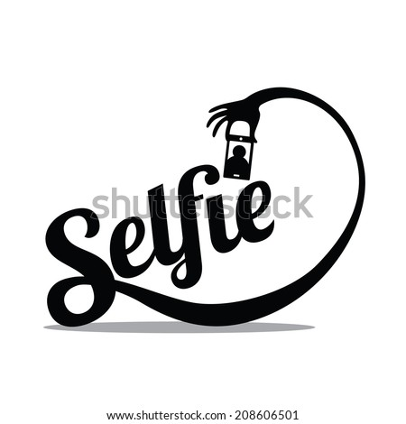 Selfie Design Element EPS 10 vector - stock vector