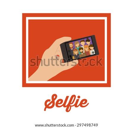 Selfie digital design, vector illustration eps 10 - stock vector