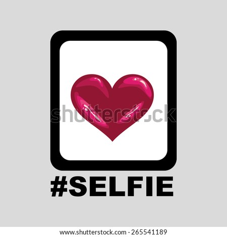 selfie icon design vector art - stock vector