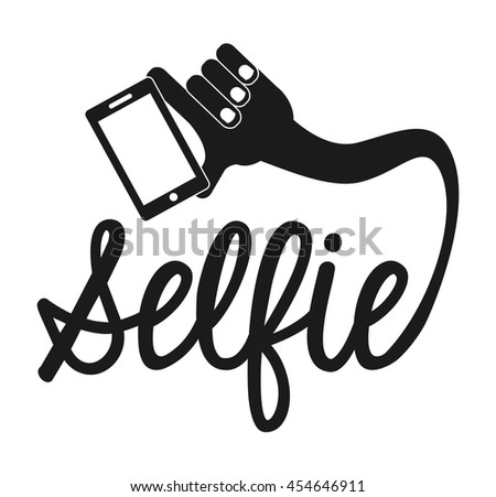 selfie photographic smartphone icon vector isolated graphic