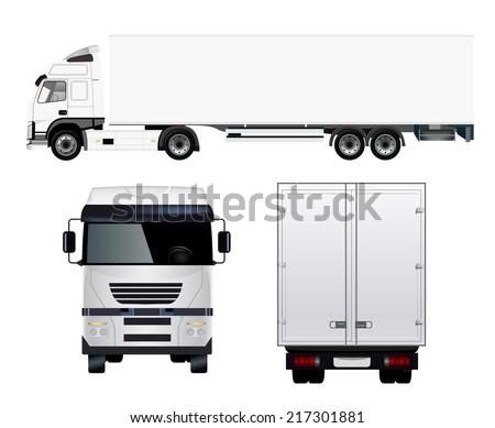 Semi Truck - stock vector