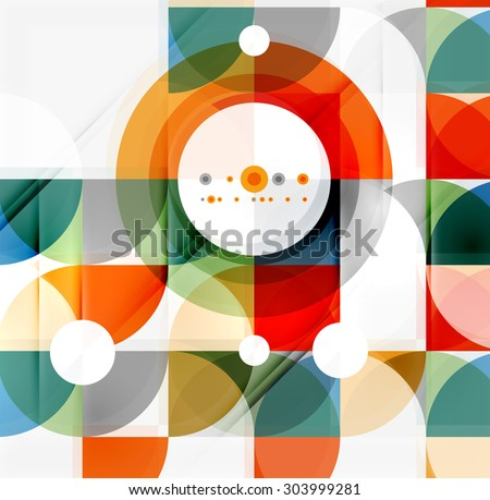 Semicircle triangle pattern. Abstract mosaic background, online presentation website element or mobile app cover  - stock vector