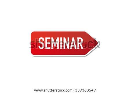 Seminar - stock vector