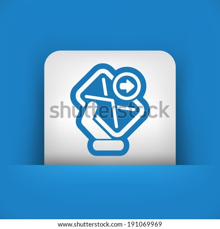 Send mail - stock vector