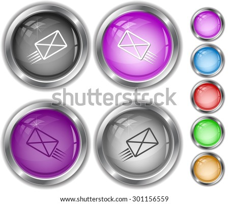 send mail. Internet buttons. - stock vector