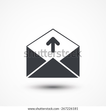 Sending email, envelope, vector illustration icon. - stock vector