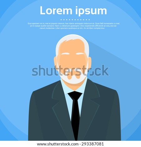 Senior Businessman Boss Business Owner Flat Profile Icon Male Portrait Vector Illustration - stock vector