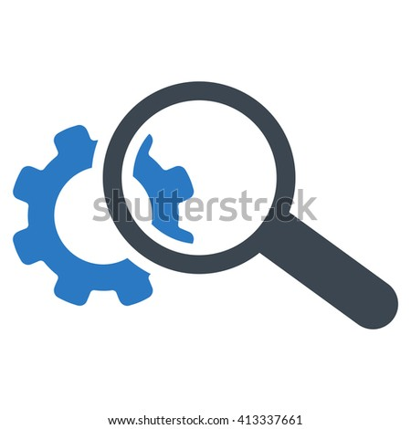 Seo Adjustment vector icon. Style is bicolor flat icon symbol, smooth blue colors, white background. - stock vector
