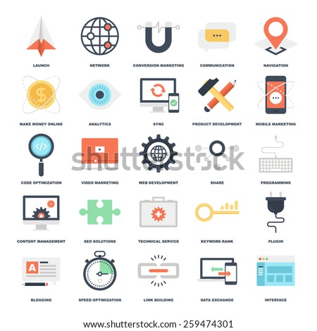 SEO and Development  - stock vector