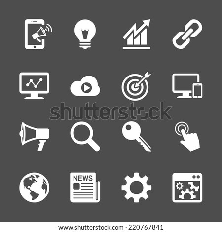 seo and internet marketing icon set, vector eps10. - stock vector