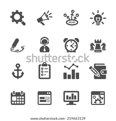 seo and internet marketing icon set 2, vector eps10. - stock vector
