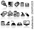 SEO and internet vector icons set. EPS 10 - stock vector