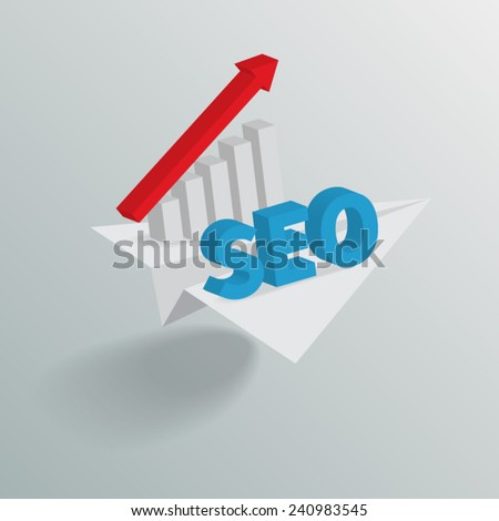 SEO and Red Graph. Vector illustration EPS10. - stock vector