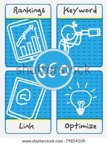 SEO Concept vector - stock vector
