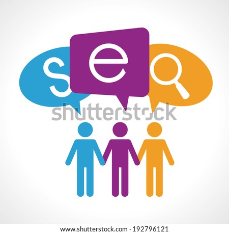 SEO design over white background, vector illustration