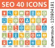 SEO 40 Icons - stock photo