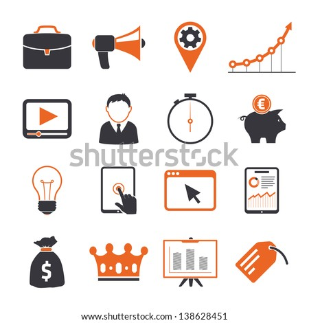 SEO icons sets - stock vector