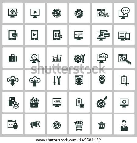 SEO icons,vector - stock vector