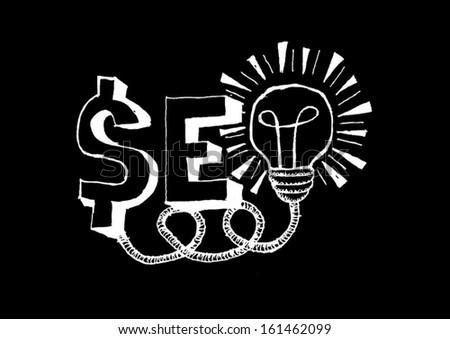 SEO idea  Search engine optimization vector  - stock vector