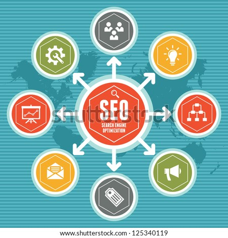 SEO Infographic Concept 1 - stock vector