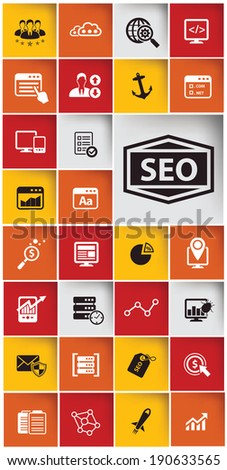 SEO,Marketing icons,Website icons,vector - stock vector