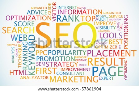 SEO - Search Engine Optimization colorful abstract poster
