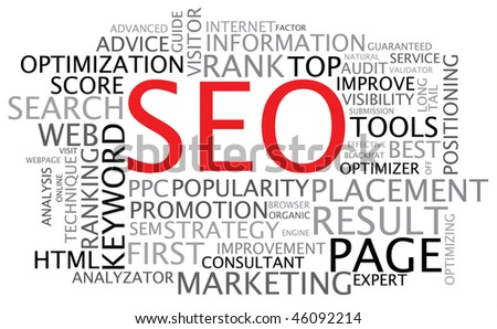 SEO - Search Engine Optimization poster - stock vector