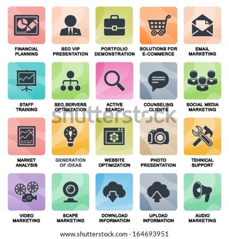 SEO web icons. - stock vector
