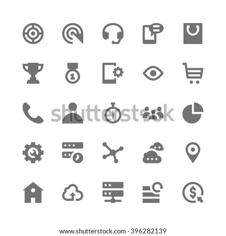 SEO Web Optimization Icons 4 - stock vector
