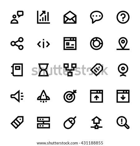 SEO Web Optimization Vector Icons 3 - stock vector