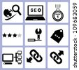 SEO, website icon set - stock photo