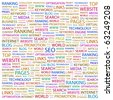 SEO. Word collage on white background. Illustration with different association terms. - stock photo