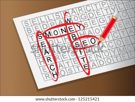 Word search Stock Photos, Illustrations, and Vector Art