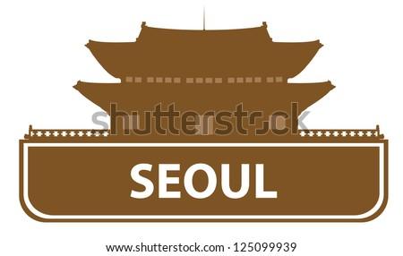 Seoul symbol - stock vector