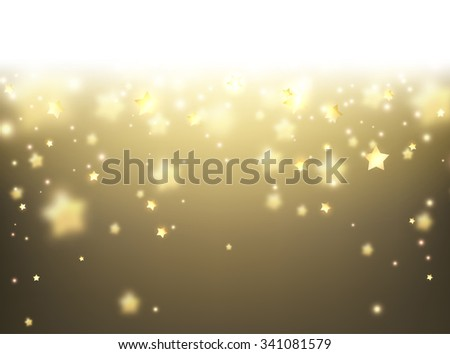 Sepia background with stars. Vector paper illustration.
